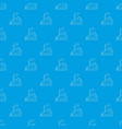 house with chimney pattern seamless blue vector image vector image