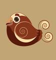 King Bird cute bird abstract prehistoric color vector image vector image