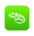 king snake icon green vector image vector image