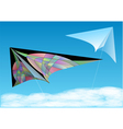 kites in blue sky vector image