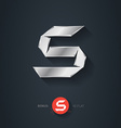 Letter S silver font Elegant Template for company vector image vector image
