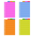 Lined Spiral Notepad Papers with Tabs vector image vector image