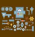 machine parts different mechanism vector image vector image