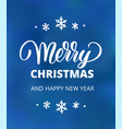 merry christmas and happy new year text holiday vector image vector image