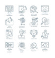 Modern SEO Thin Line Icons vector image vector image