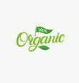 organic hand written lettering logo label vector image