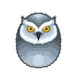 Owl Bird Icon on White Background vector image