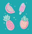 punchy pastel cartoons collestion vector image vector image
