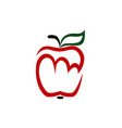 red apple logo on white vector image vector image