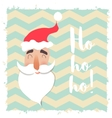 Santa Claus happy face Cartoon funny character vector image