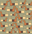 seamless pattern with cats vector image