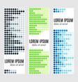 set of abstract vertical header banners vector image vector image