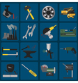 Set of metal working tools icons vector image vector image