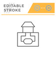 sewerage system line icon vector image