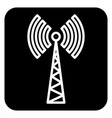 Sign of communications tower vector image