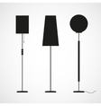 Silhouettes of floor lamps vector image