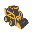 Skid steer digger truck vector image