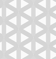 Slim gray triangle grid vector image vector image