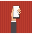 Smartphone design Media icon Flat vector image