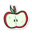 sticker of a cartoon apple half