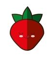strawberry fresh fruit kawaii style isolated icon vector image