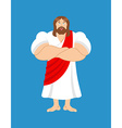 Strong Jesus Jesus Christ is powerful biblical vector image vector image