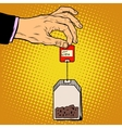 tea bag hand vector image