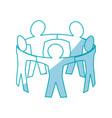teamwork abstract symbol vector image vector image