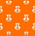 teddy bear pattern seamless vector image vector image