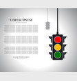 traffic light with place for your text vector image