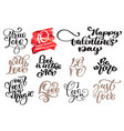 valentine love romantic lettering set calligraphy vector image vector image