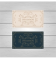 Vintage Ornament wedding invitation design vector image