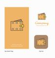 wallet company logo app icon and splash page vector image vector image
