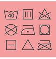 Washing symbols vector image vector image