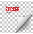 White Paper Sticker Bended Page Sticker