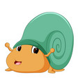 a comical snail vector image vector image