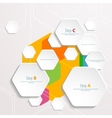 Background polygons cut paper- design template vector image vector image