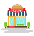 Bakery shop of flat style building vector image