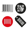 barcode Button qrcode vector image