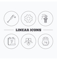 Baseball bowling and basketball icons vector image
