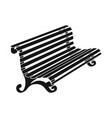 bench and garden symbol vector image
