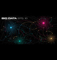 big data visualization deep learning algorithms vector image vector image