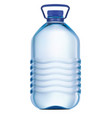 big plastic bottle of potable water 3d vector image vector image