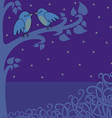 birds in night vector image vector image