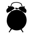 black silhouette alarm clock icon classic vector image vector image