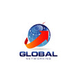 blue marble global networking logo vector image
