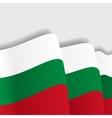Bulgarian waving Flag vector image vector image