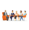business meeting - modern cartoon vector image