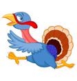Cartoon turkey running vector image vector image