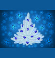 christmas tree with background vector image vector image